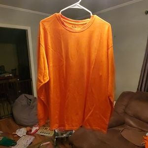 Safety Orange Long Sleeve Tee